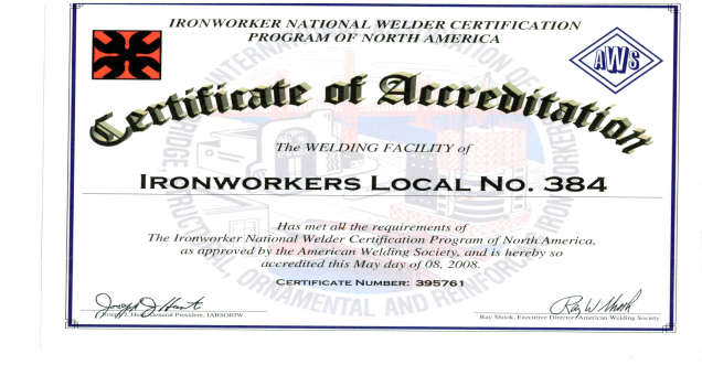 Training Center   Iron Workers Local 384